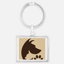 With Love for the Animals  Landscape Keychain