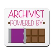 Archivist powered by chocolate Mousepad