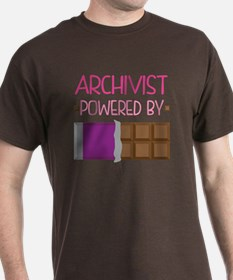 Archivist powered by chocolate T-Shirt