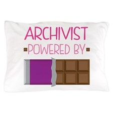 Archivist powered by chocolate Pillow Case