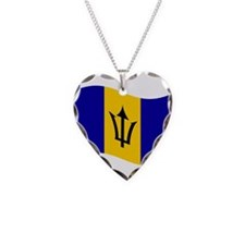Waving Barbados Flag Necklace