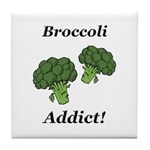 Broccoli Addict Tile Coaster