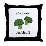 Broccoli Addict Throw Pillow