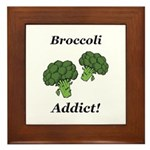 Broccoli Addict Framed Tile