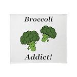 Broccoli Addict Throw Blanket