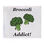 Broccoli Addict Throw Blanket