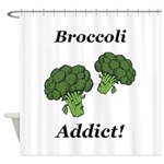 Broccoli Addict Shower Curtain