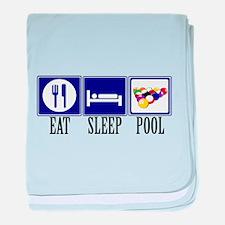 Eat, Sleep, Pool baby blanket