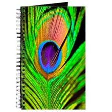 Neon Peacock Feather Journal