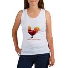 Crazy Chicken Lady Fun Quote with Rooster Tank Top