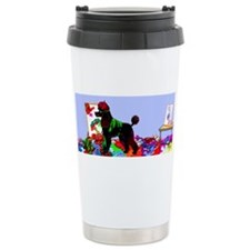 Cute Poodle art Travel Mug