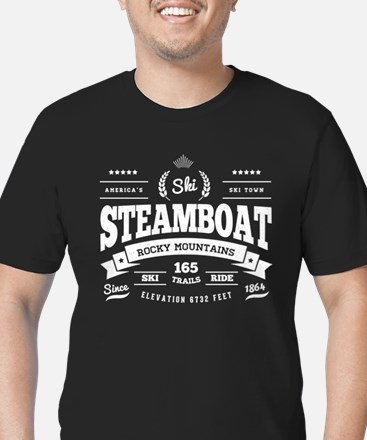 Steamboat Vintage Men's Fitted T-Shirt (dark)