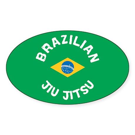 Brazilian Jiu Jitsu Oval Sticker