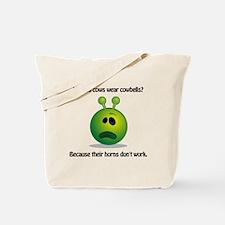 Punny Alien Cowbell Tote Bag