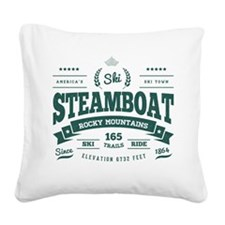 Steamboat Vintage Square Canvas Pillow