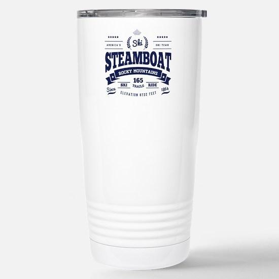 Steamboat Vintage Stainless Steel Travel Mug