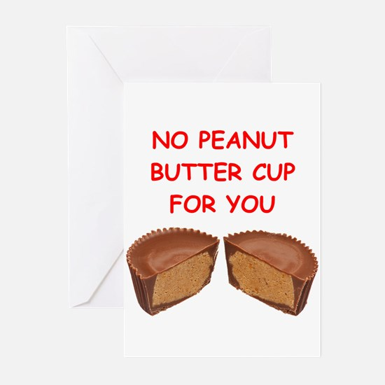 peanut butter cup Greeting Cards