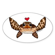 Sea Turtle Love Decal