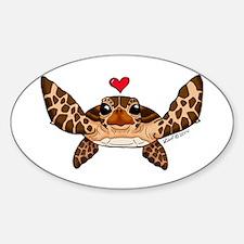 Sea Turtle Love Decal