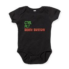 CTRL-ALT-BELLY BUTTON Baby Bodysuit