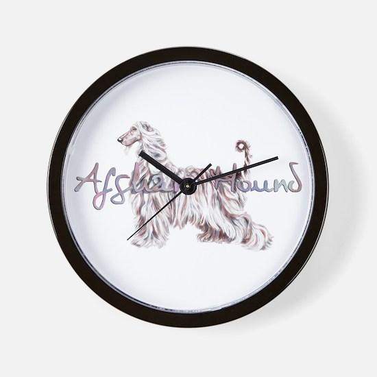 Afghan Elegance w Txt Wall Clock