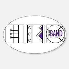 Team Band Winds Guard Percussion Sticker (Oval)