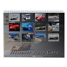 Historic Race Cars Wall Calendar