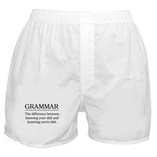 grammar knowing your shit Boxer Shorts