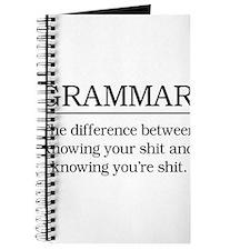 grammar knowing your shit Journal