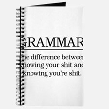 grammar knowing your shit Journal