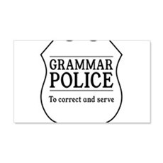 grammar police Wall Decal
