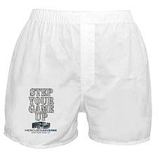 Step Your Game Up - Original Grey Boxer Shorts