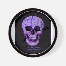 Skull hard night Wall Clock