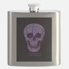 Skull hard night Flask