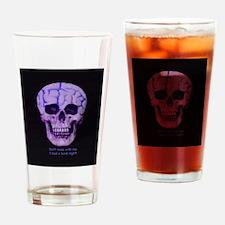 Skull hard night Drinking Glass