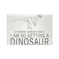 history repeats dinosaur Magnets