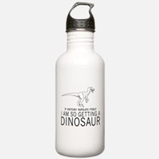 history repeats dinosaur Water Bottle