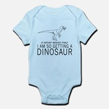 history repeats dinosaur Body Suit