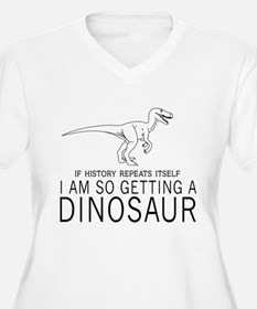history repeats dinosaur Plus Size T-Shirt