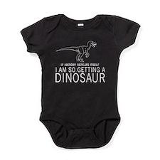 history repeats dinosaur Baby Bodysuit
