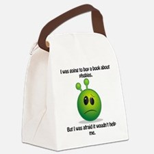 Punny Alien Phobia Canvas Lunch Bag