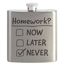homework never Flask