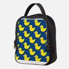 Blue and Yellow Rubber Duck, Ducky Neoprene Lunch