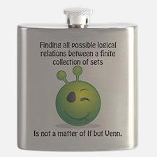 Punny Alien Venn Flask
