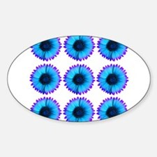 Peacock Blue And Purple Flowers Decal
