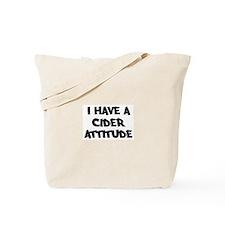 CIDER attitude Tote Bag