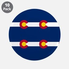 """Colorado Flag Pattern 3.5"""" Button (10 pack)"""