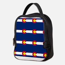 Colorado Flag Pattern Neoprene Lunch Bag