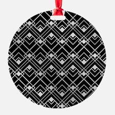 Black and Silver Vintage Art Deco Design Ornament