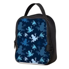 Frog Pattern; Navy, Midnight, Sky, Baby Blue Frog